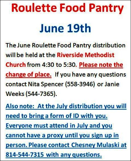 6-19 Roulette Food Pantry