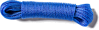 3mm blue polycord