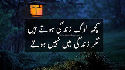 2 Lines Heart Touching Shayari in Urdu