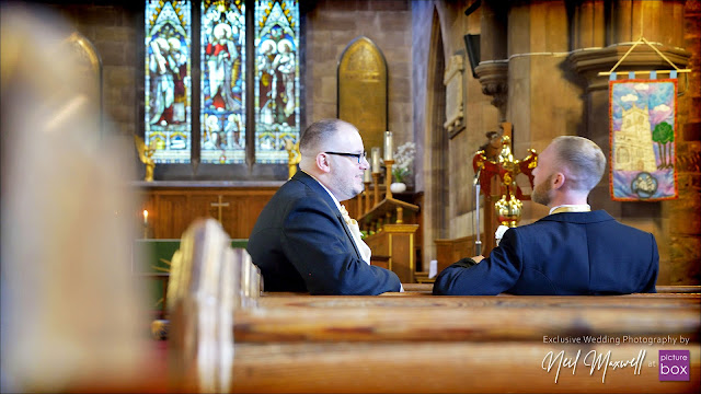 Wedding Photography by Neil at Picture Box -The Barns Hotel Wedding Photographer, Blooms Menswear, St Lukes Cannock