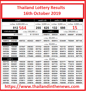 thailand-lottery-16th-October-2019
