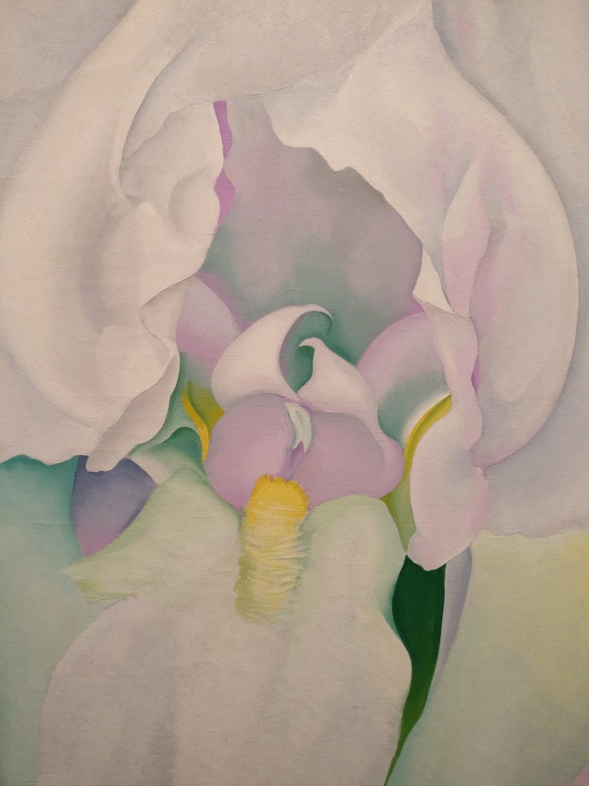 White Iris Painting By Georgia O Keeffe At Virginia Museum Of Fine Arts Richmond Va