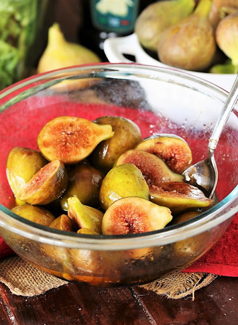 Bowl of Marinated Figs Image