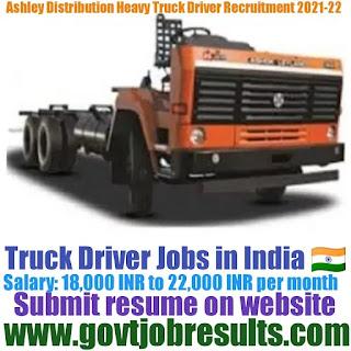 Ashley Distribution Heavy Truck Driver Recruitment 2021-22