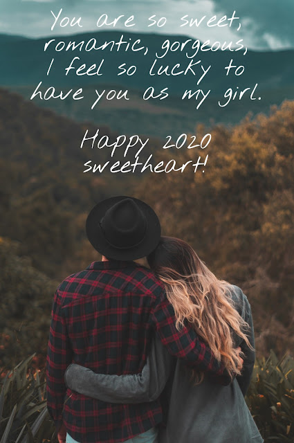 Happy new year Cute messages for Girlfriend 2020