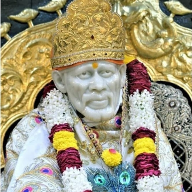 Sai Nath Sai baba in this images temple