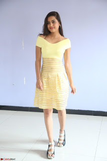 Shipra gaur in V Neck short Yellow Dress ~  072.JPG
