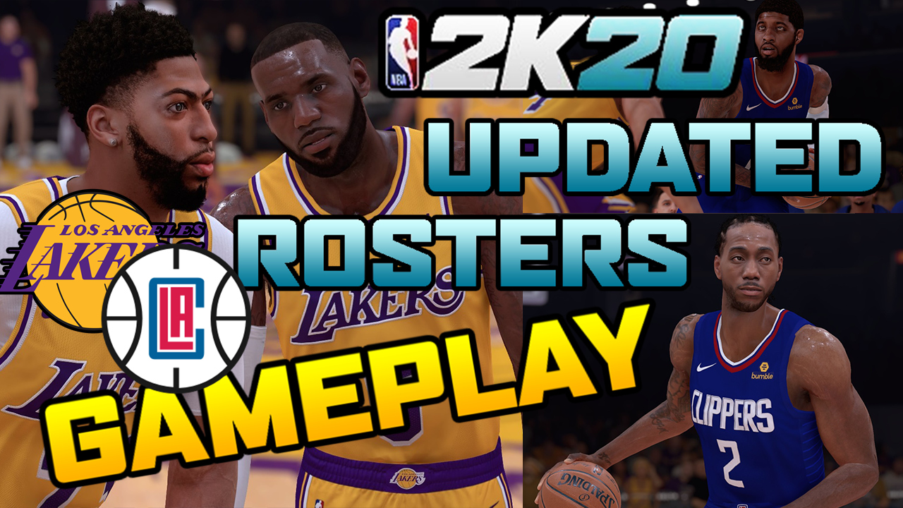 NBA 2K20 Updated Rosters│Los Angeles Clippers vs Los