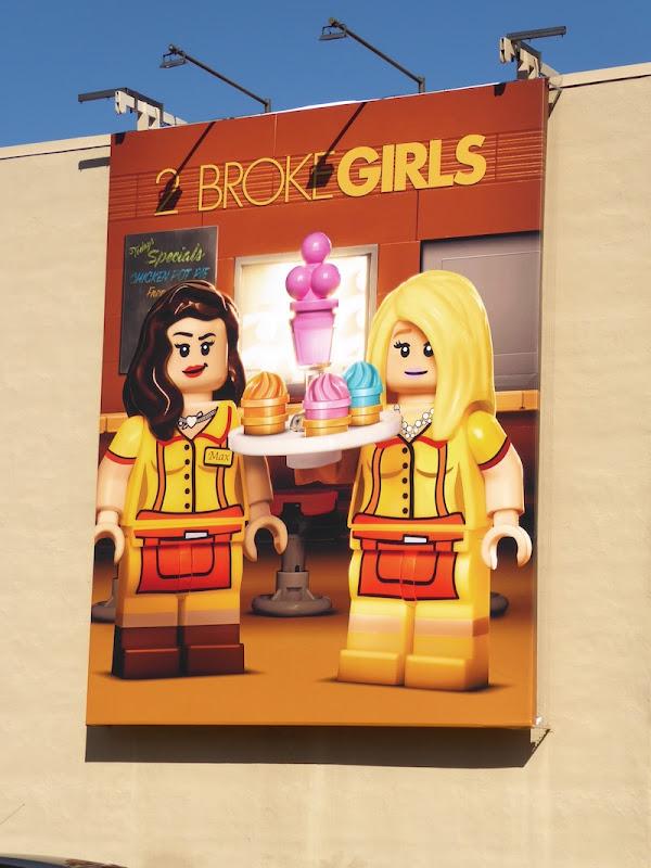 2 Broke Girls 2017 Lego billboard