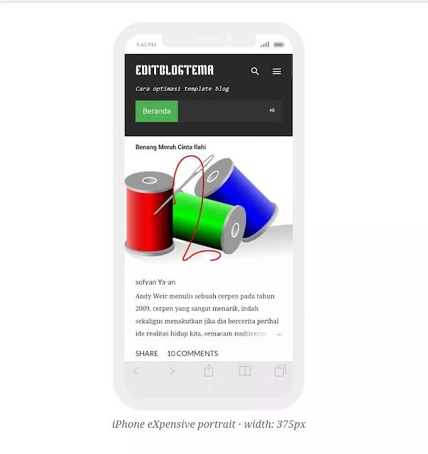 notable re-desain v.3 tampilan ponsel