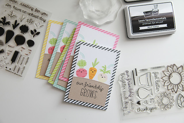 VIDEO: Friendship Card Set DIY using, Rooting for you, by Lawn Fawn