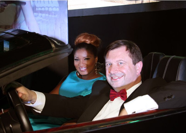 omotola jalade escorts british high commissioner