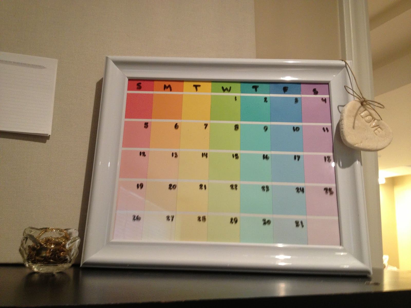 Image result for paint chip calendar