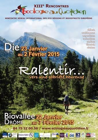 Rencontre ecologie die 2016