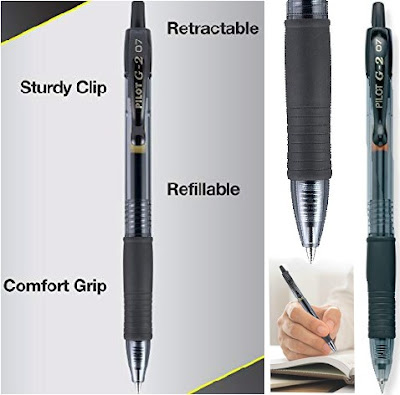 Pilot G2 Pens: Retractable and Refillable Office Pen with Clip