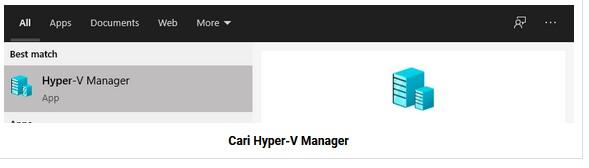 Cari Hyper-V Manager