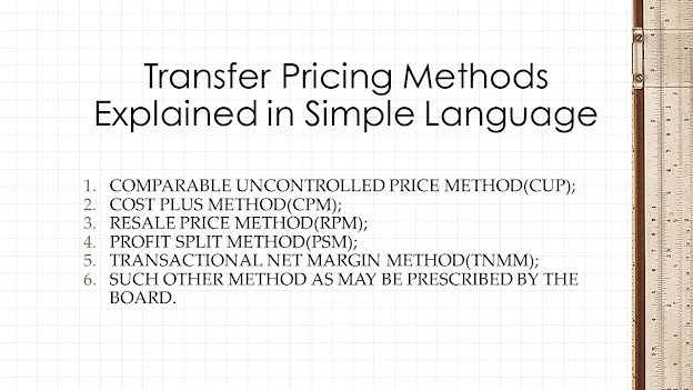 Transfer Pricing Methods Explained in Simple Language