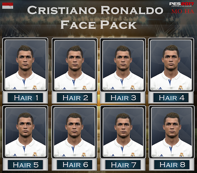 PES 2017 Cristiano Ronaldo Face Pack