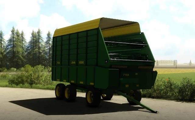 FS19 John Deere 716a Forage Wagon v1.0