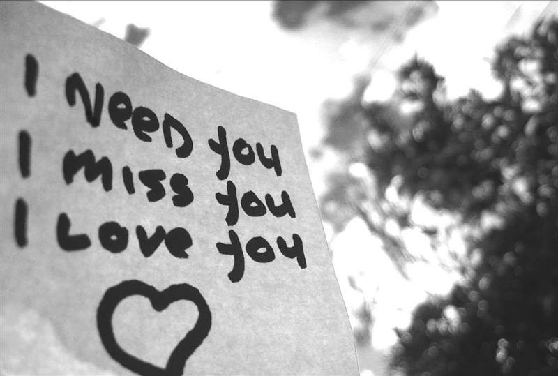 i miss you i love you words on image