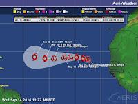 Ciclón tropical 12 en el Atlántico