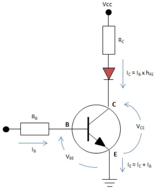 Transistor NPN sebagai Saklar