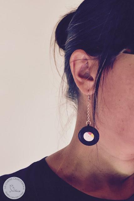orecchini in carta fatti a mano