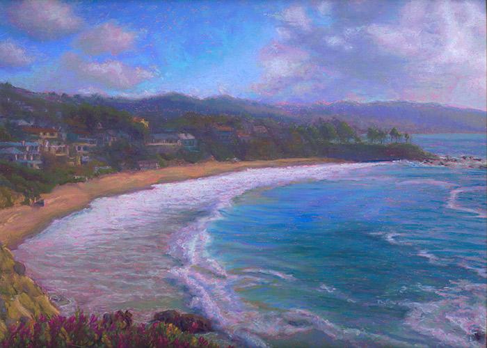 Post Impressionist Coastal Boat Scene Oil Painting
