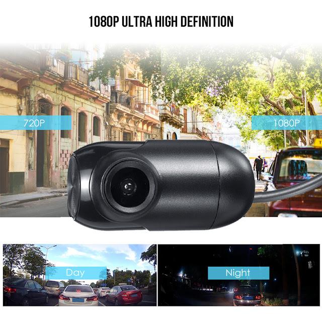 1080P Mini WiFi Dash Cam 170 Degree Wide Viewing Angle Driving Recorder Car DVR Camera