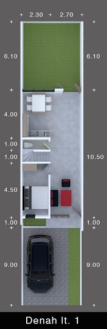 Floor Plan Lantai 1 Perumahan Signature Residence Jl. Karya Dalam Dekat RS Sufina Aziz dan BPJS Kesehatan Medan