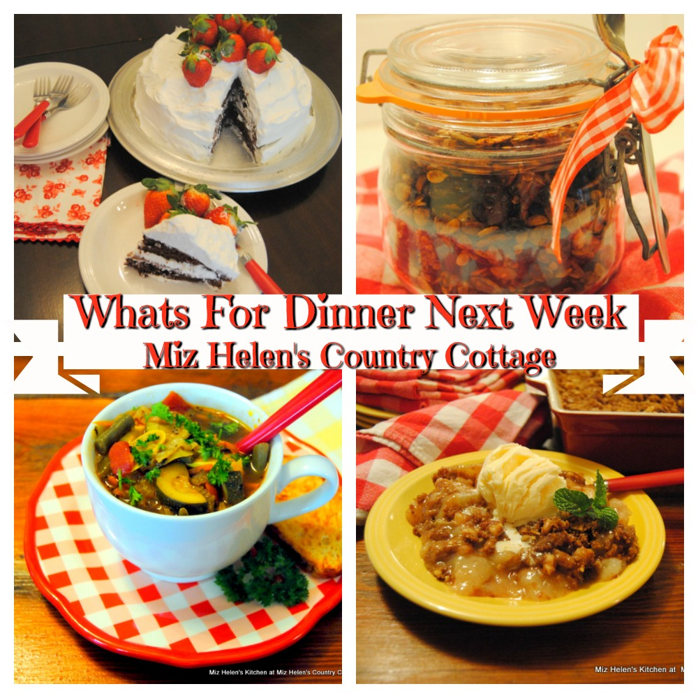 Whats For Dinner Next Week * Week of 12-15-19