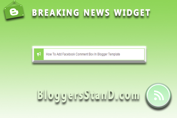 How To Install + Add Responsive Breaking News Widget In Blogger Template