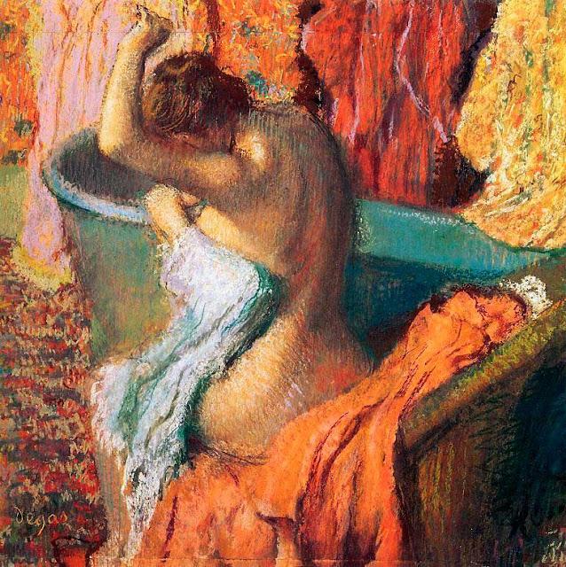Эдгар Дега - Вытирание полотенцем (1895)