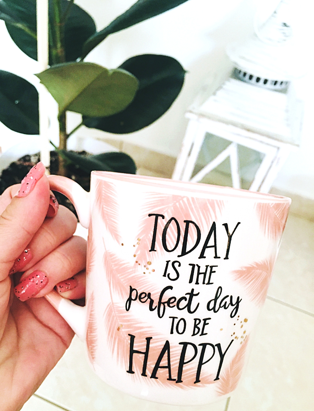today is the perfect day to be happy coffee mug; inspirational quote mug; high vibe lifestyle