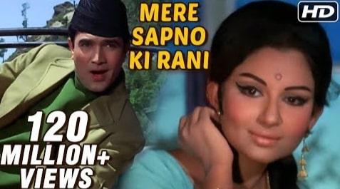Mere Sapno Ki Rani Lyrics, Kishore Kumar, Aradhana, Anand Bakshi, SD Burman