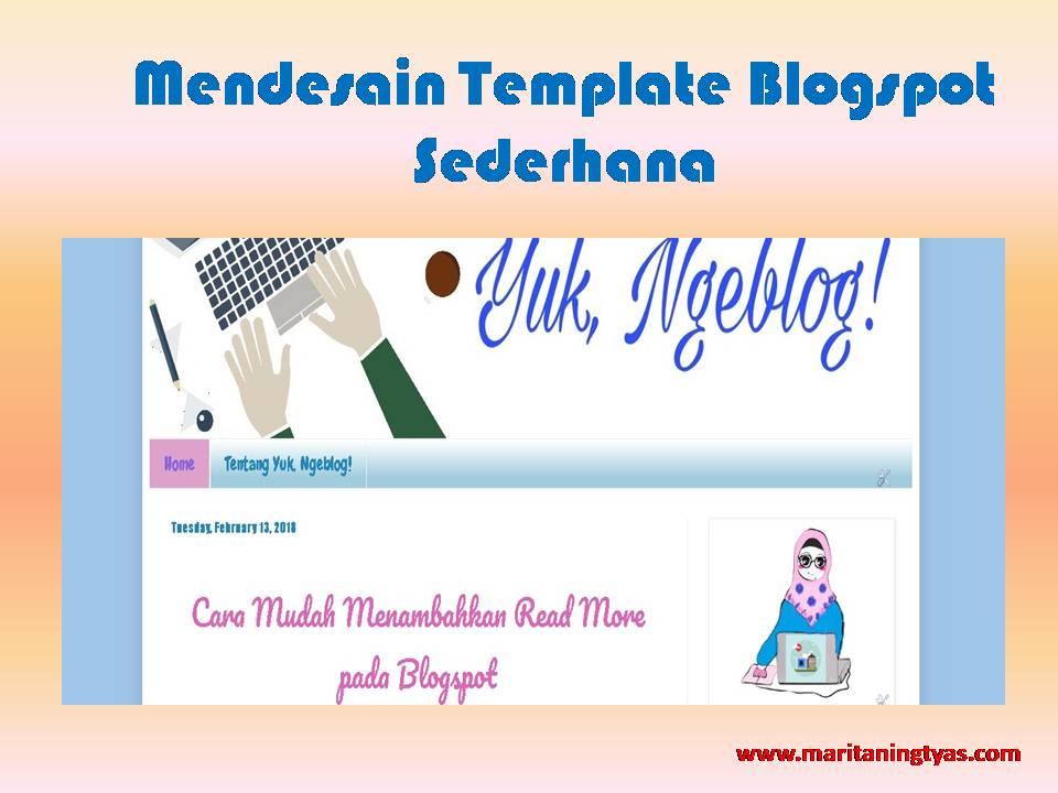 mendesain template blog sederhana