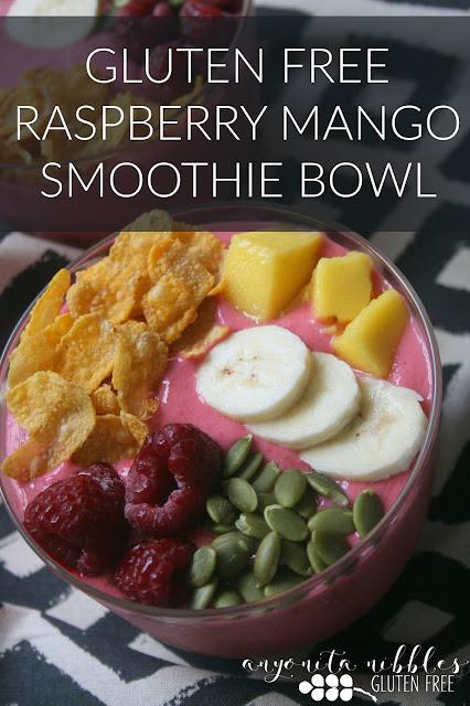 Gluten Free Raspberry Mango Smoothie Bowl | Anyonita Nibbles