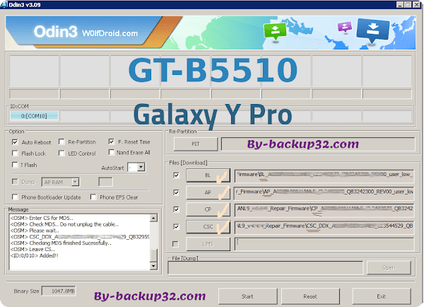 سوفت وير هاتف Galaxy Y Pro موديل GT-B5510 روم الاصلاح 4 ملفات تحميل مباشر