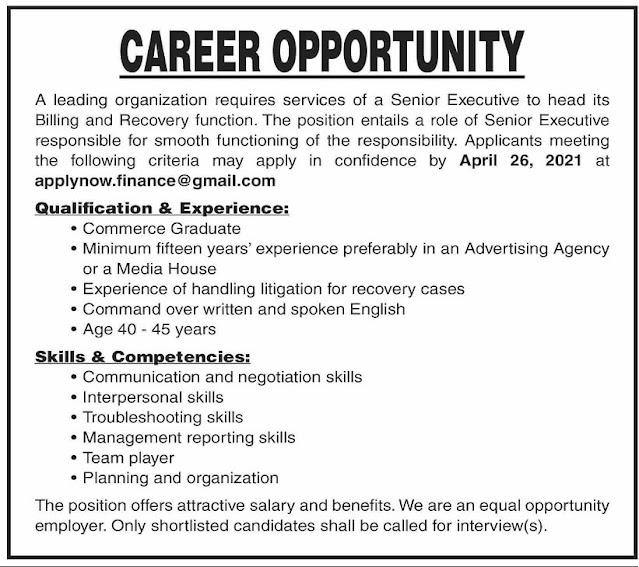 Senior-Executive-Job-Vacancy-2021
