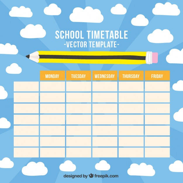 Timetable Templates For School In Excel Format  Excel Template