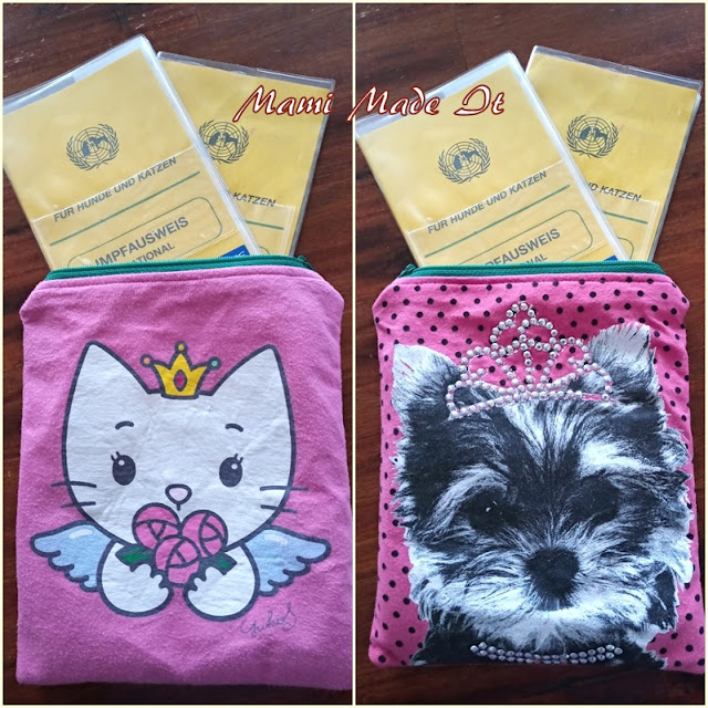 Tasche für Haustier-Impfpass - Pouch for Pet ID and Passport