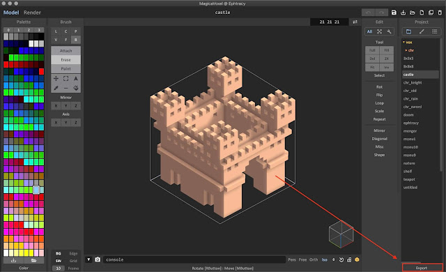 How to Export Voxel Models from MagicaVoxel to Blender