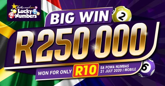 SA Powa Numbas - R250k Won