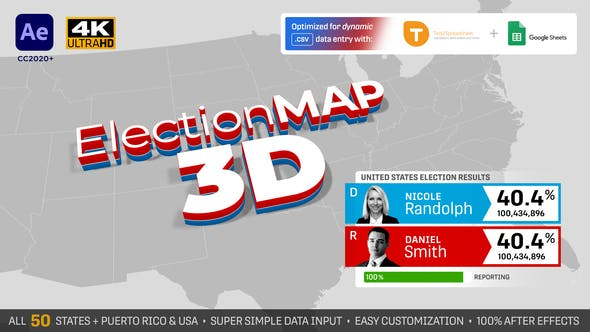Videohive - United States Election Map 3D 28786534