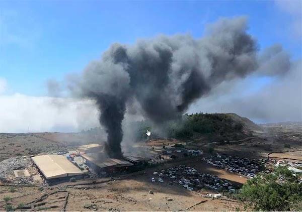 Controlado Incendio de El Hierro, El Majano