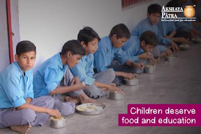 Mid day meal in Uttar Pradesh