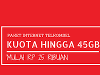 Paket Internet Murah Telkomsel, Mulai 25 ribu Kuota Hingga 45GB, Begini Caranya!