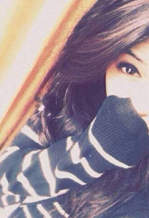 Girl Half Face DP for Facebook