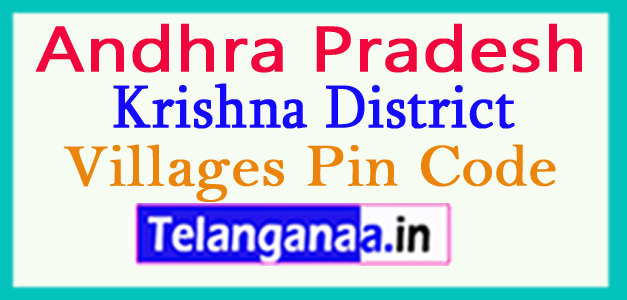Krishna District Pin Codes in Andhra Pradesh State