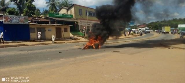 Atakpamé : Révolte des conducteurs de taxi-motos